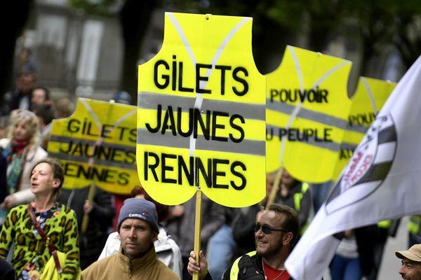 Manifestation de Gilets Jaunes à Rennes le 27 avril 2019