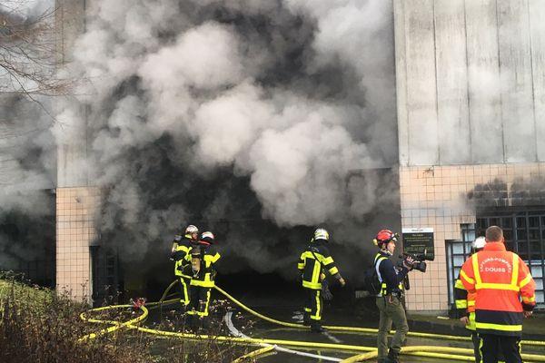 La fourrière de Planoise, victime d'un incendie criminel, mardi 31 décembre 2019.