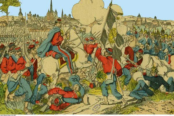 Bataille de Dijon du 23 janvier 1871 - Imagerie d'Epinal