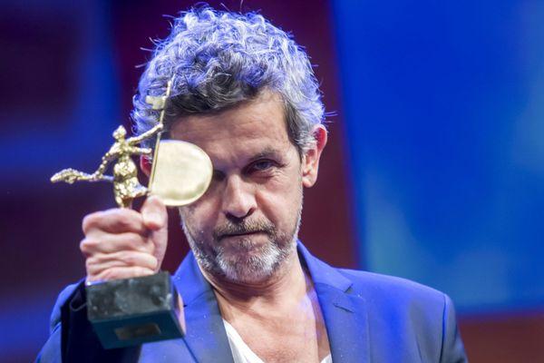 Thierry de Peretti au Seville European Cinema Festival de Seville, en 2017, après avoir reçu la récompense du meilleur scénario pour Une vie violente.