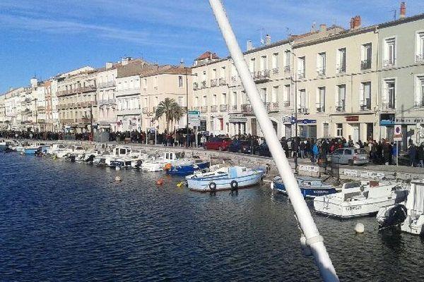 Sète (Hérault) - 10.000 personnes annoncées - 11 janvier 2015