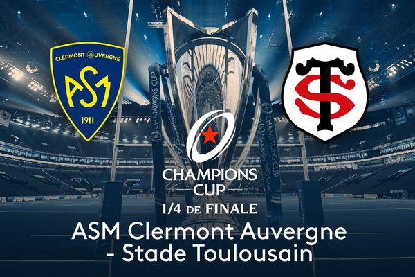 L'affiche Clermont Auvergne - Stade Toulousain sera l'un des deux chocs franco-français des quarts de finale de la Coupe d'Europe de rugby, en direct sur France 2 et le site web de France Télévisions.