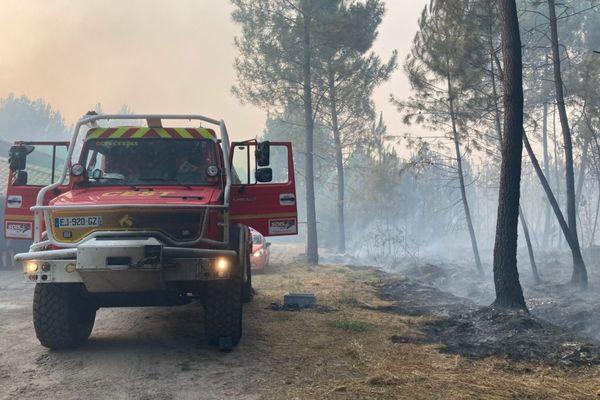 Le feu a ravagé 250 hectares, à 21h.