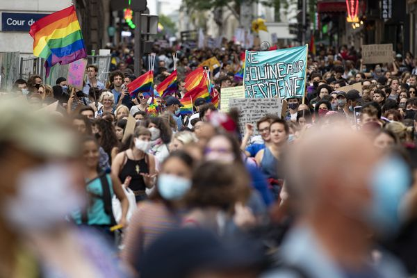 Photo d'illustration - La marche des fiertés à Paris, le 4 juillet 2020