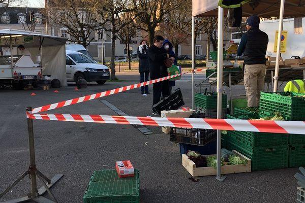Mesures d'éloignement et distances de sécurité au programme du marché de Limoges Marceau ce 21 mars 2020