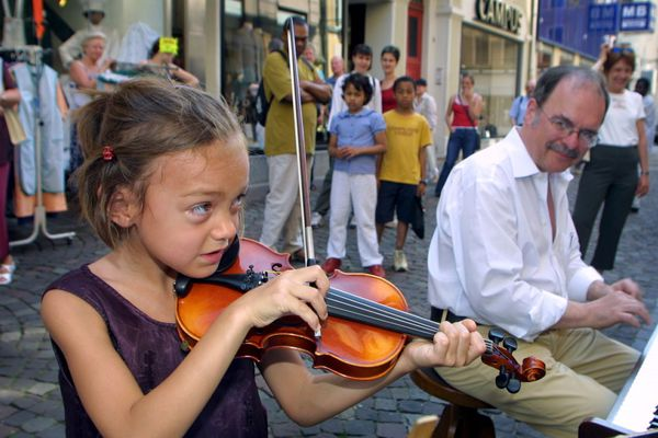 La Fête de la musique réunit petits et grands, comme ici à Mulhouse.