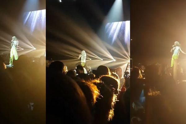 Bilal Hassani sur la scène du Kursaal à Dunkerque