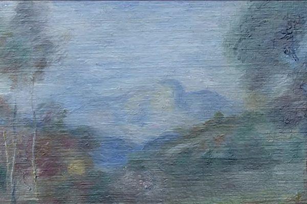 Dans ce tableau de Renoir, on distingue la montagne de Saint-Jeannet.