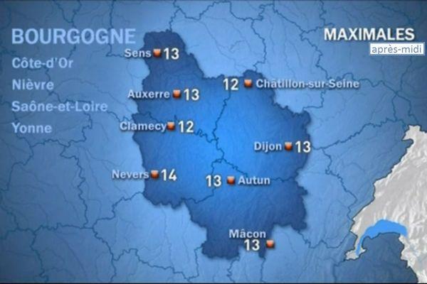 Les prévisions de Météo France lundi 19 octobre après-midi