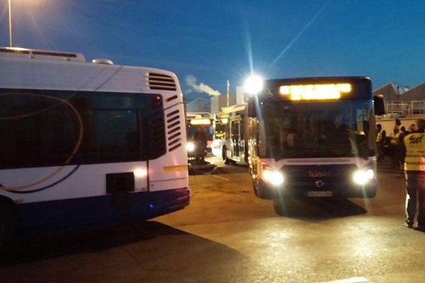 La fin du blocus du dépôt de bus de Toulouse-Croix-Daurade à 6 heures 30 jeudi matin