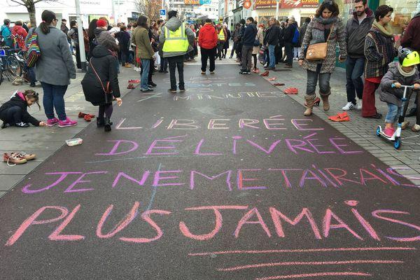 Le rassemblement contre les violences faites aux femmes à Saint-Nazaire