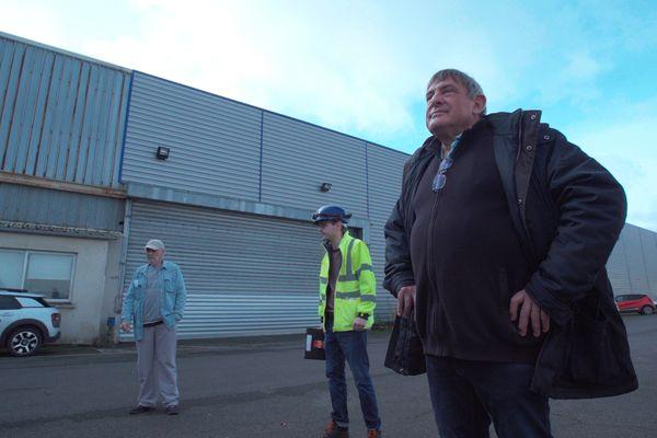 Ralph Blinddauer, à côté de Xavier, délégué syndical et aux côtés des salariés de Prafer à Woippy.