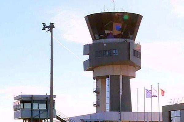 La tour de contrôle de l'aéroport Montpellier Méditerranée - janvier 2017.