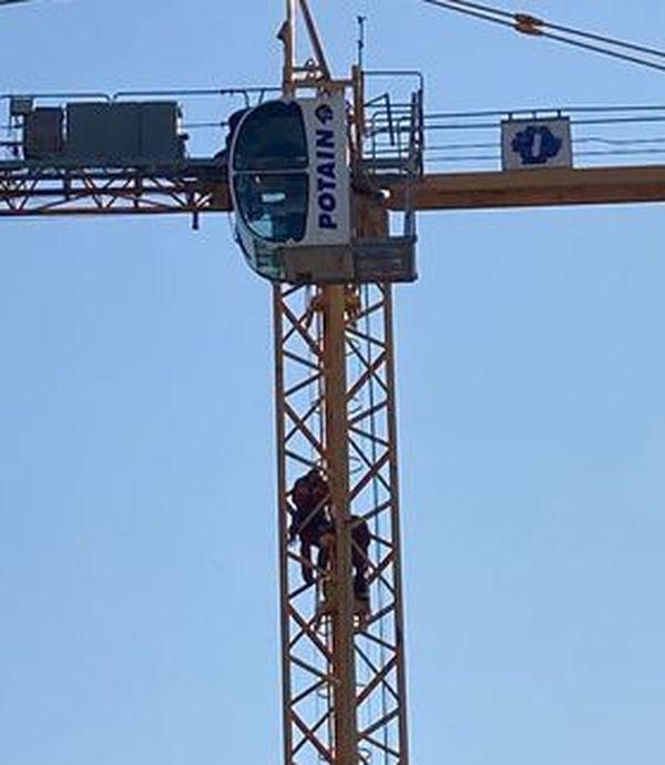 Ce matin vers 10 heures, sur un chantier de La Garde dans le Var.