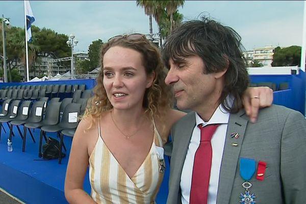 Adelaïde Stratton et Patrick Sergent, ce dimanche à Nice.