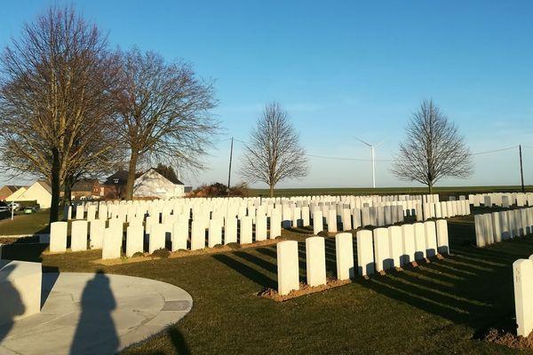 Un parc éolien va venir s'implanter juste à côté de ce cimetière de la Première guerre mondiale.