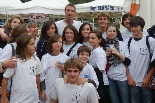 Alain Bernard à Savigny-lès-Beaune le 20 octobre dernier, a rencontré les membres du Cercle Nautique Nuiton