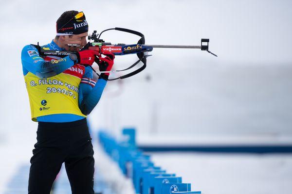 08 Février 2021, mondiaux de biathlon à Pokljuka (Slovénie) ; le Jurassien Quentin Fillon Maillet à l'entraînement.