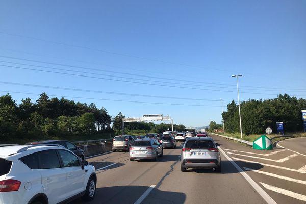 Des ralentissements depuis ce samedi matin sur l'autoroute entre Lyon et Orange