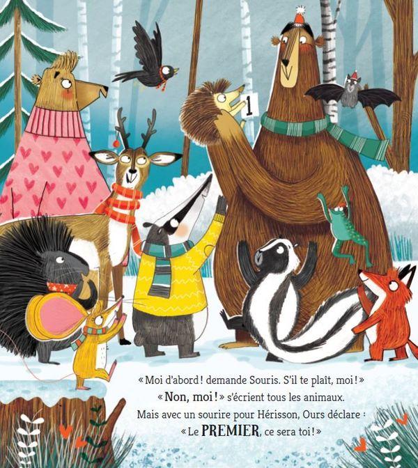 En attendant Noël de Adam et Charlotte Guillain, illustré par Pippa Curnick