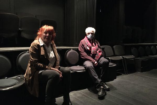 """Mauricette Touyéras et Michel Bruzat, à l'issue de la """"représentation""""."""