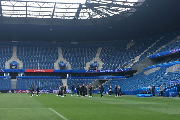 Les néerlandaises découvrent le stade Océane au Havre