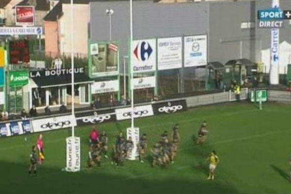 Brive (Corrèze) - Carcassonne bat Brive 22 à 16 - 13 janvier 2013.
