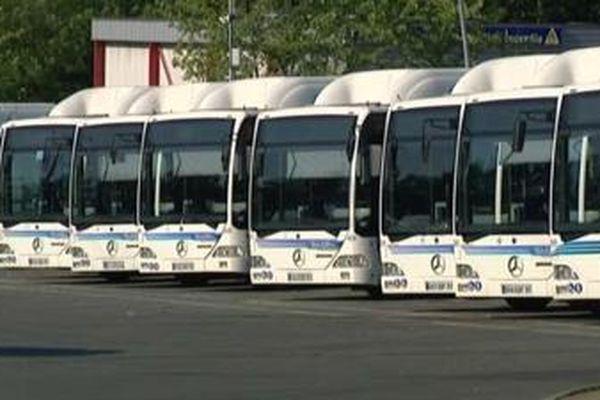 Illustration : les bus de la société Transdev