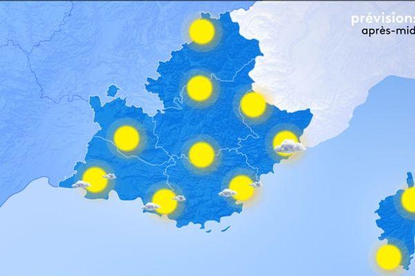 Lundi 6 janvier, le temps est sec et ensoleillé sur toute notre région.