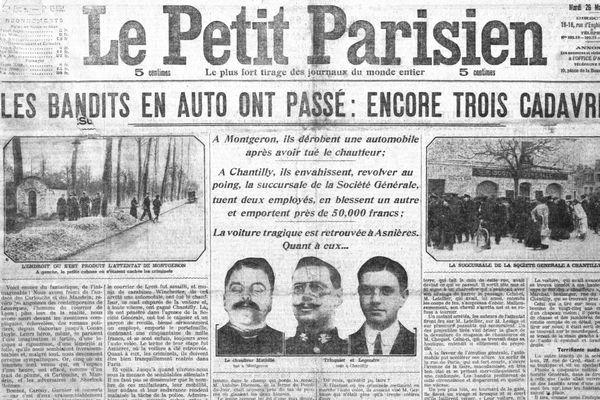 Une du Petit Parisien en date du 26 mars 1912