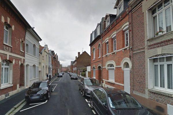 La rue Saint-Simon à Amiens
