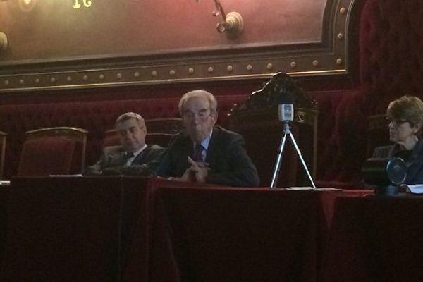 Robert Badinter, au cours de sa conférence sur l'affaire Calas au palais de Justice de Toulouse