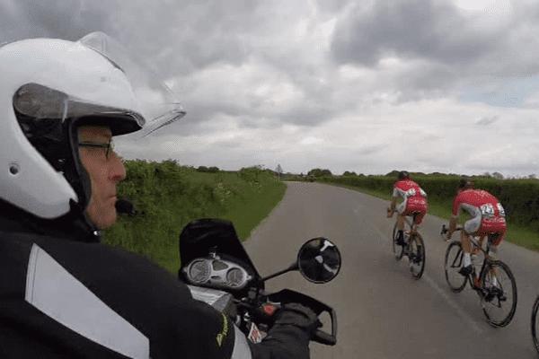 Motard sur le Tour de Picardie
