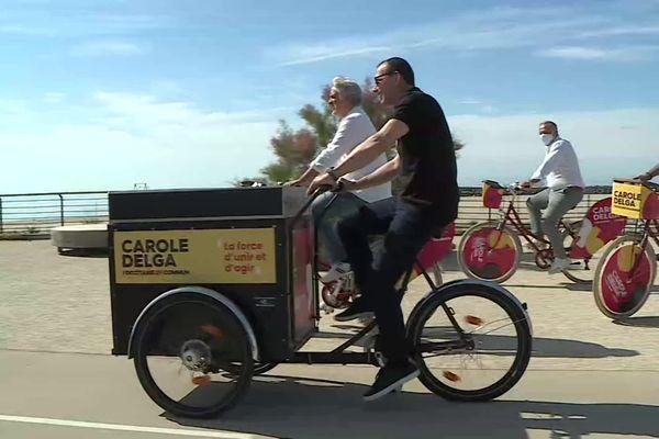 Ce dimanche, les soutiens de Carole Delga ont parcouru la corniche de Sète à vélo.