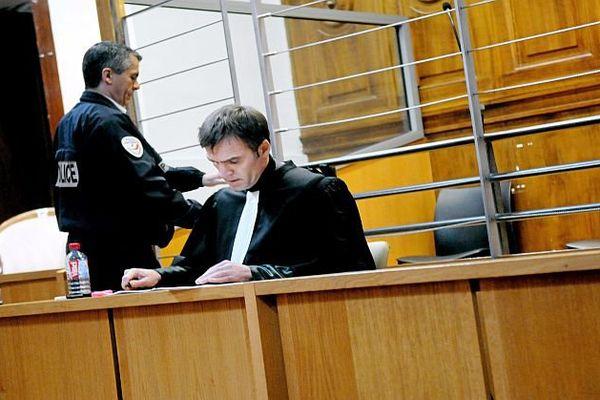 Nîmes - l'avocat d'Amaury Maillebouis aux Assises - 21 mars 2016.