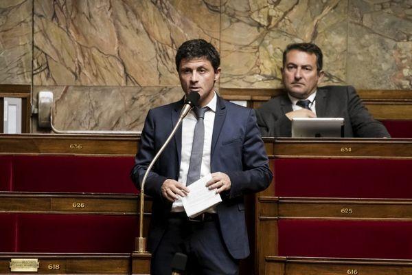 27 Septembre 2017, séance à l'Assemblée nationale portant sur la loi antiterroriste, en tribune le député nationaliste corse Jean-Félix Acquaviva