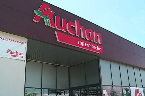 Le supermarché Auchan du Mas Canteroux à Perpignan