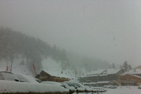 Par endroits, il es tombé plus de 20cm de neige