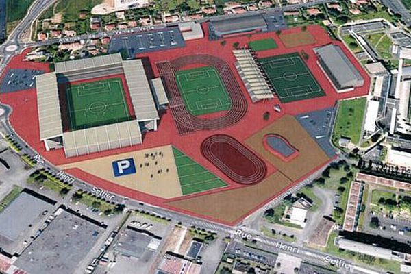 Plan du projet de stade des Chamois Niortais FC - archives