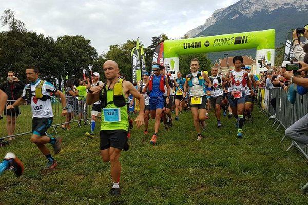 Les concurrents sur la ligne de départ de l'UT4M Challenge