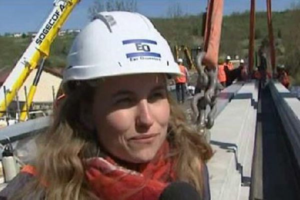 Lucie Girard, conductrice de chantier.