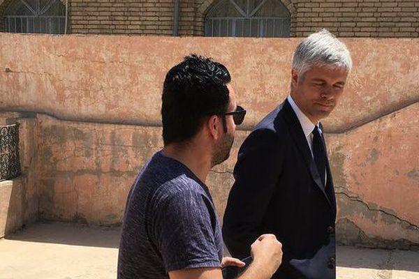 En déplacement pour trois jour en Irak le président de La région Auvergne Rhône Alpes travaille sa stature internationale.