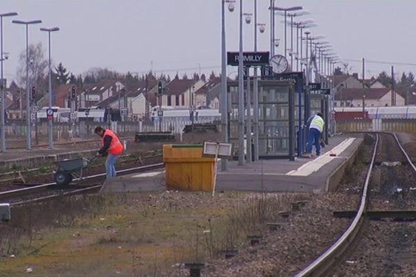 La gare SNCF de Romilly-sur-Seine au lendemain du drame.