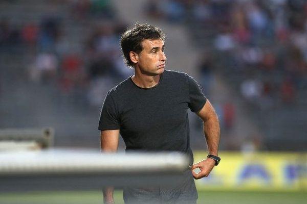 Olivier Dall'Oglio, l'entraîneur du Dijon FCO, club de football de Ligue 2
