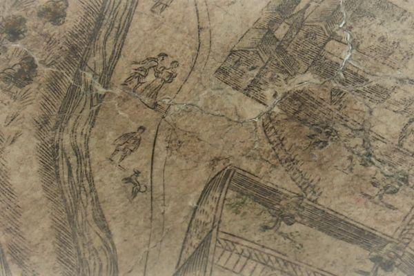 Balades au bord du Rhône, scène de vie au temps de la Renaissance dans la capitale des Gaules.