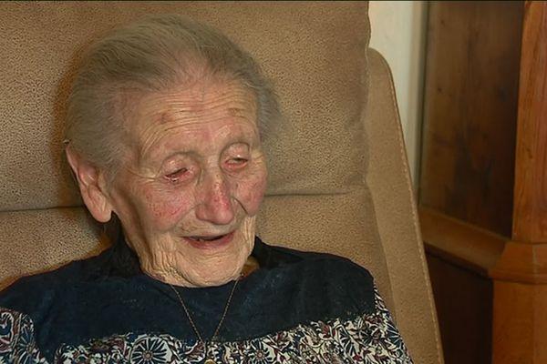 Anne-Marie Papail en 2019, chez sa fille à la Boussac et alors qu'elle célébrait ses 109 ans