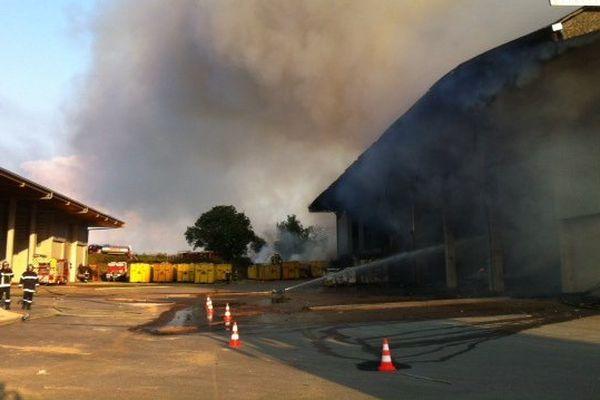 """Dans """"l'usine Braley"""" de Bozouls, les dégâts sont considérables"""