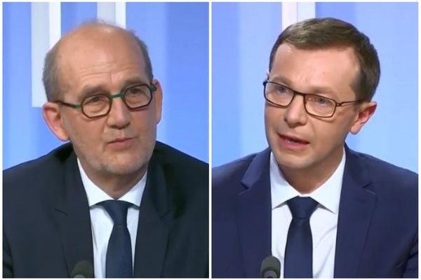 Jean-Yves Ravier et Christophe Bois sont candidats à la mairie de Lons-le-Saunier pour le second tour des municipales 2020.