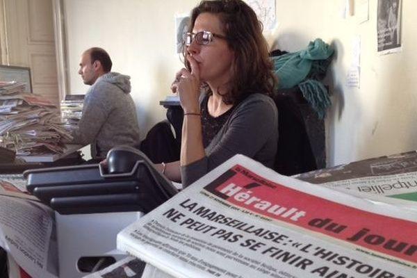 Amélie Goursaud, journaliste à l'agence montpelliéraine de l'Hérault du Jour