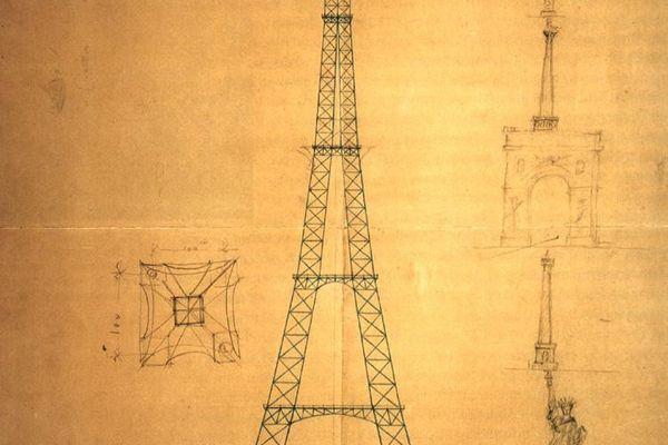 """Maurice Koechlin ne l'appelait pas la Tour Eiffel mais """"le pylône de 300 mètres pour la ville de Paris""""."""
